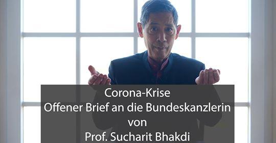 Corona-Krise: Offener Brief an die Bundeskanzlerin von Prof. Sucharit Bhakdi (English)